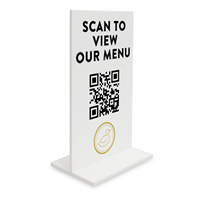 QR Menu Table Sign
